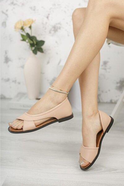Kadın Pudra Açık Sandalet