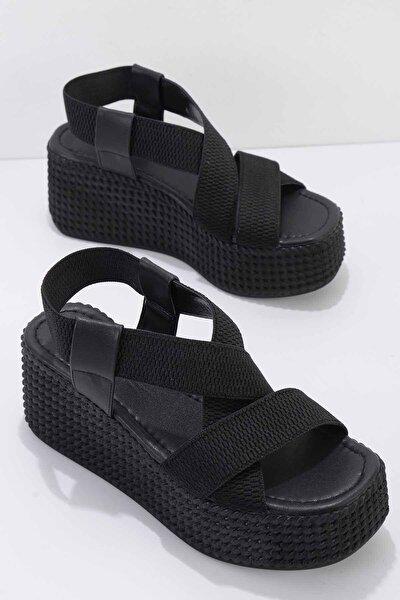 Siyah Kadın Dolgu Topuklu Ayakkabı K05886015054