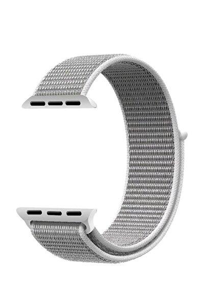Apple Watch Dokuma Kordon Kayış 7 - 6 - Se - 5 - 4 - 3 - 2 - 1 38mm 40mm - Gri