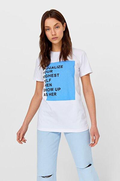 Kadın Baskılı Kısa Kollu T-shirt