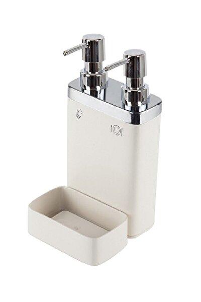 Prımanova Vıva M-e10-09 Sıvı Sabunluk 2lı Sungerlıklı Bej