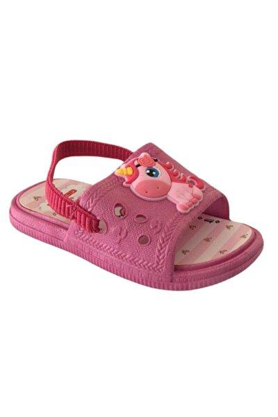 Kız Çocuk Pembe Kaydırmaz Havuz Terlik Sandalet