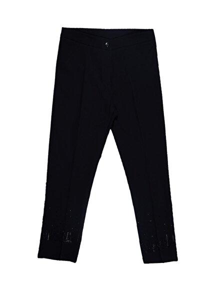 Kadın Paçası Taşlı Kumaş Pantolon Büyük Beden 44-52 Tvd-3878
