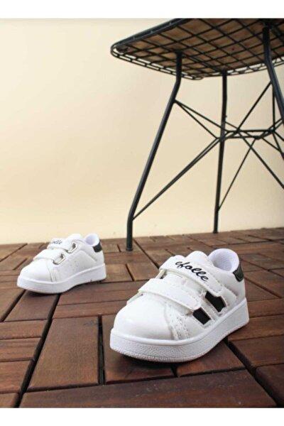 Bebek Beyaz Cırtlı Spor Ayakkabı
