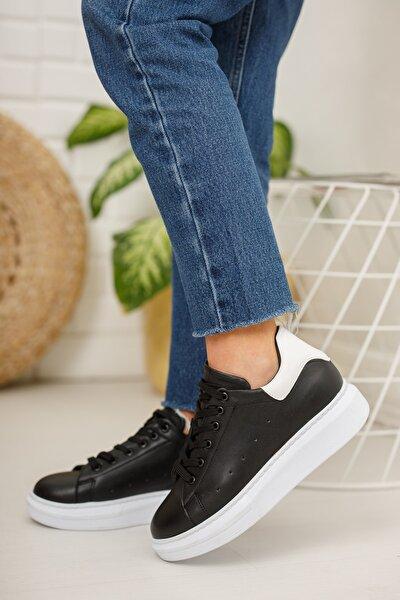 Kadın  Siyah-beyaz Sneaker Md1001-101-0005