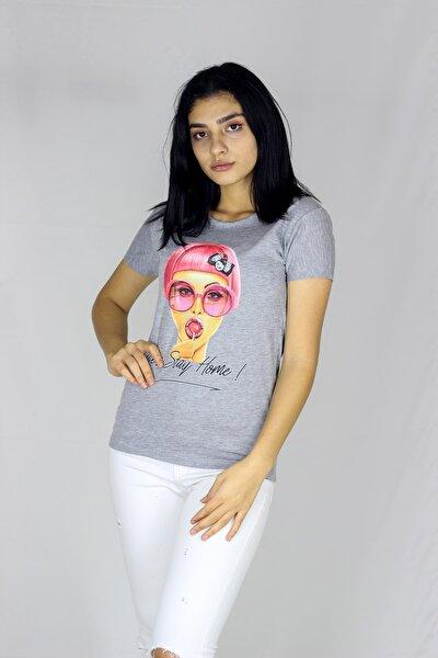 Kadın Gri T-Shirt