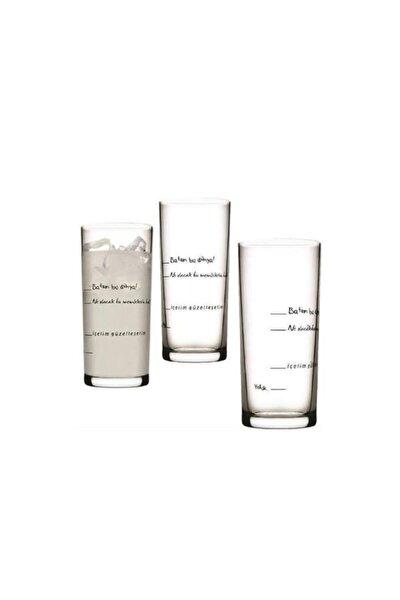 Içelim Güzelleşelim 6lı Rakı Bardağı Seti