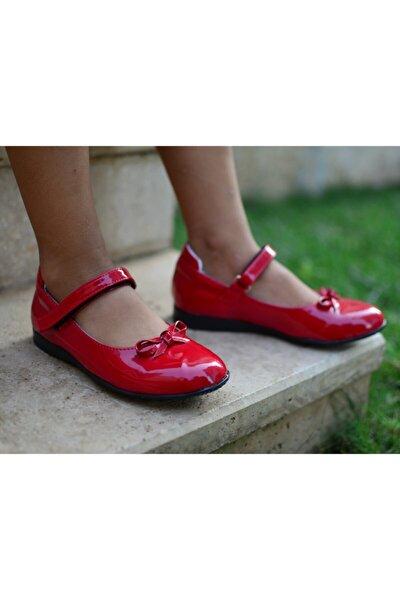 Kız Çocuk Kırmızı Rugan Babet Ayakkabı