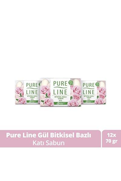 Doğal Özler Ile Bitkisel Bazlı Sabun Gül 70 gr X12
