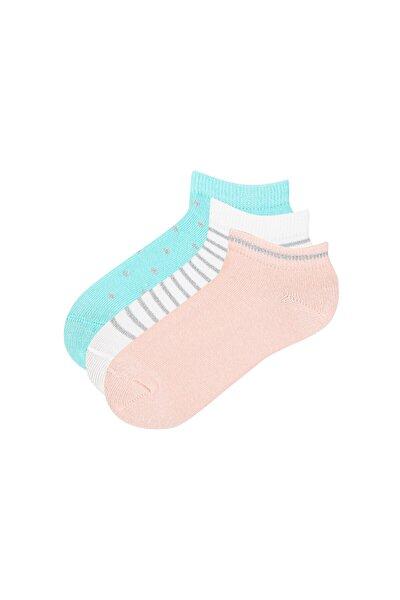 Kız Çocuk Shıny 3lü Patik Çorap