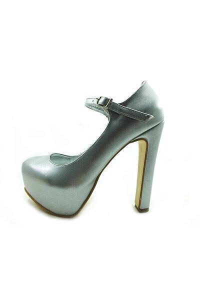 Çarıkçım Topuklu Platform Bayan Ayakkabı - Lame-perde - 2138