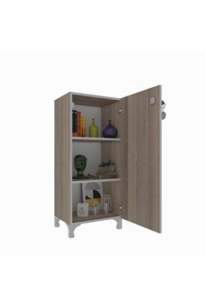 Mutfak Dolabı Zehra 108*030*032 Crd Kilitli Ayaklı Banyo Evrak Ofis Kitaplık Ayakkabılık Kiler