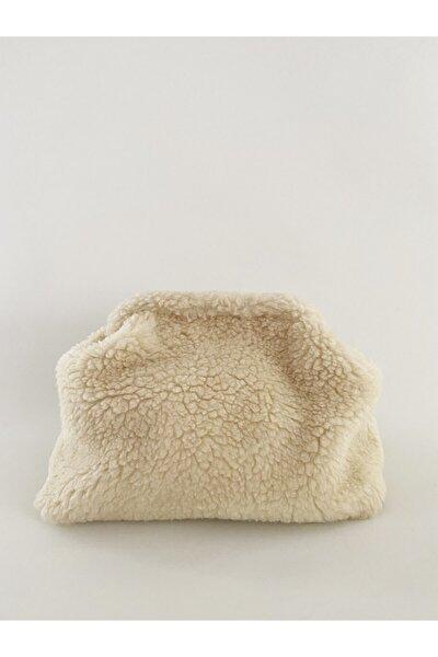 Kadın Peluş Teddy Clutch Çanta