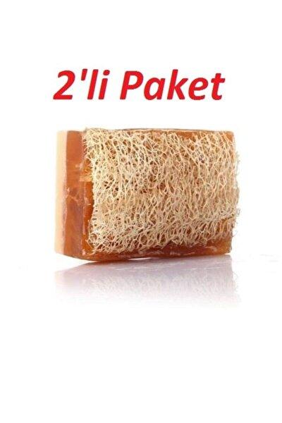 %100 El Yapımı Doğal Kabak Lifli Ballı Eşek Sütü Sabunu 2'li Paket 120 Gr.x 2 Adet