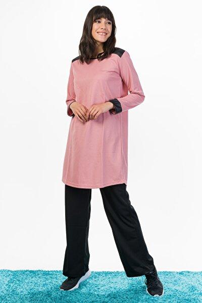 Kadın Pudra Tunik Takım