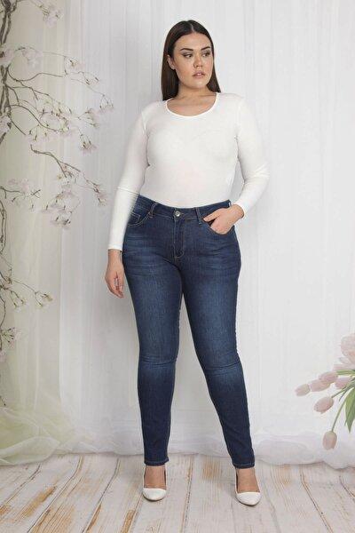 Kadın Lacivert 5 Cepli Kot Pantolon 65N22217