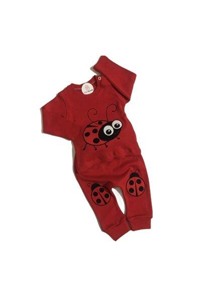 Unisex Bebek Kırmızı Sevimli Uğur Böceği Takım