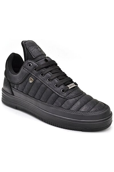 Erkek  Dikişli Siyah  Sneaker 07