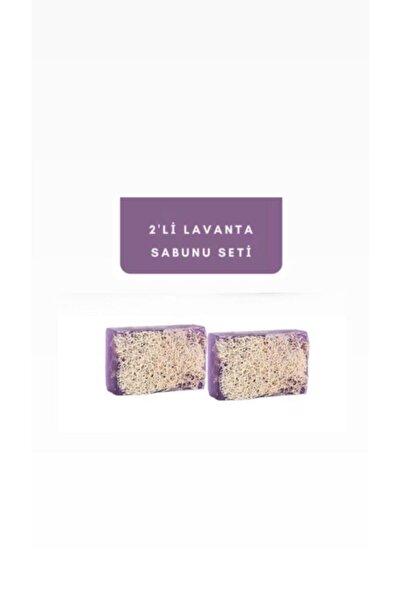 %100 El Yapımı Doğal Kabak Lifli Lavanta Sabunu 2'li Set 240 Gr