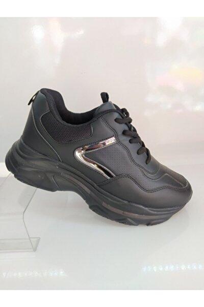, Yüksek Tabanlı Çok Rahat Ve Şık Bayan Spor Ayakkabısı
