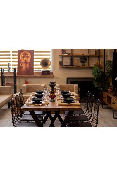 Ntconcept Masif Ağaç Yemek Masası 85 cm 185 cm Masa