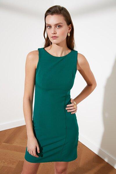 Yeşil Basic Bodycon Elbise TWOAW20EL0746