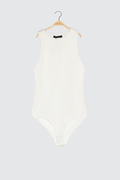 Beyaz Çıtçıtlı Örme Body TWOSS20BD0044