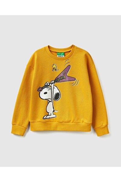 Kız Çocuk Snoopy Baskılı Sweatshirt