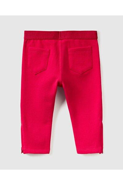 Kız Çocuk Fuşya Pantolon Görünümlü Eşofman Altı