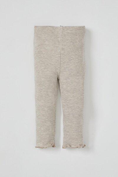 Kız Bebek Basic Fitilli Uzun Tayt