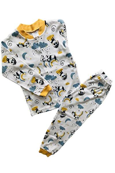 Pandalı Önden Düğmeli Çocuk Pijama Takım %100 Pamuk