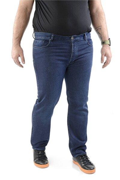 Mavi Erkek Kot Pantolon Battal Beden Slim Fit Jean - C4000