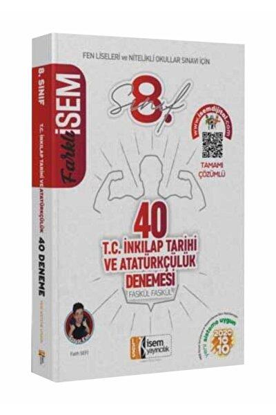 Isem Yayınları 8. Sınıf 40'lı Inkilap Tarihi Deneme 2021