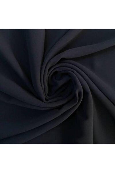 Likralı Elbiselik Double Krep Kumaş- Siyah (150 Cm Eninde)