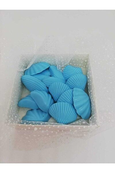 Sabun - Kokulu Süs Sabunu - Deniz Kabukları 15 Adet Mavi-3cm