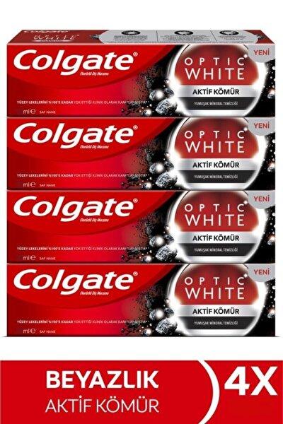 Optic White Aktif Kömür Yumuşak Mineral Temizliği Beyazlatıcı Diş Macunu 4 X 50 Ml