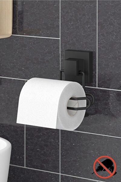 Delme Vida Matkap Yok! Easyfıx Yapışkanlı Tuvalet Kağıtlık Mat Siyah Ef271