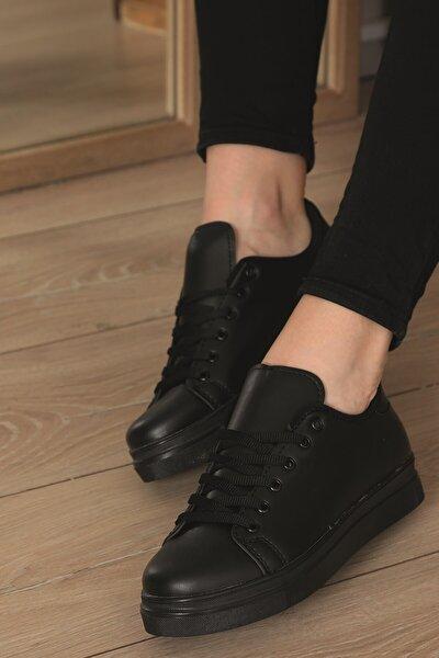 Kadın Siyah Spor Ayakkabısı