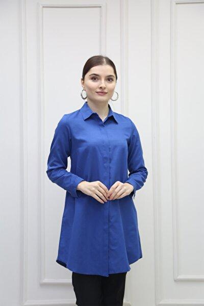 Kadın Lacivert Gömlek