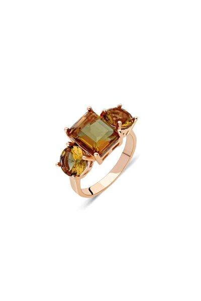 Roz Gümüş  Yüzüğü Zultanit Taşlı Kadın Yüzük Yzk-370