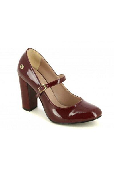 Kadın Bordo Rugan Topuklu Ayakkabı Pc-81015