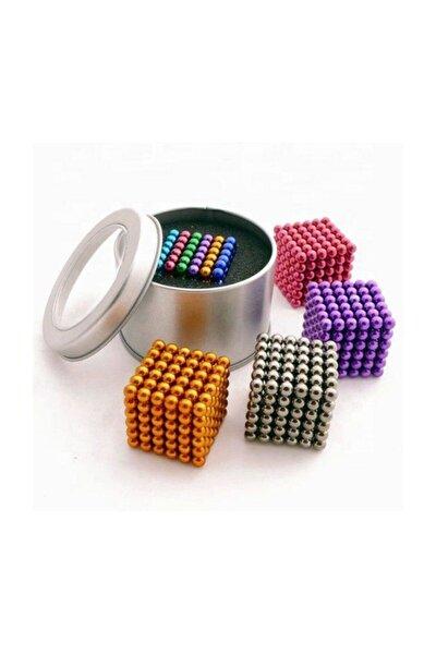 6 Renkli 5mm 216 Adet Neocube Neodyum Mıknatıs Küp Sihirli Manyetik Toplar Mıknatıslı Misket