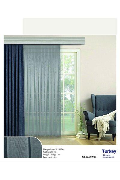Salon Oturma Odası Yatak Odası Gri Renk Ipek Kırışmaz 1/3 Sık Pile Etek Kurşunlu Tül