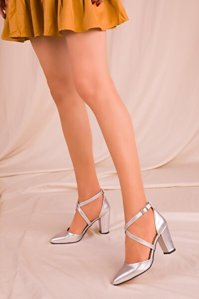 Gri Kadın Klasik Topuklu Ayakkabı 14391