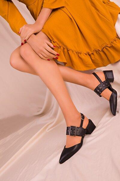 Siyah Kadın Klasik Topuklu Ayakkabı 14707