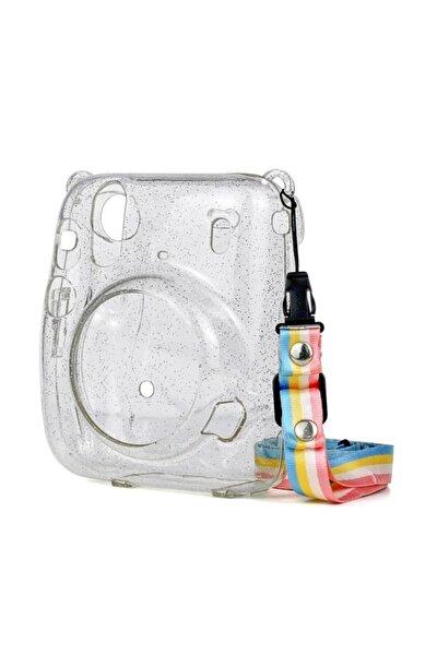 Fujifilm Instax Mini 11 Simli Şeffaf Kılıf-koruyucu Sert Plastik