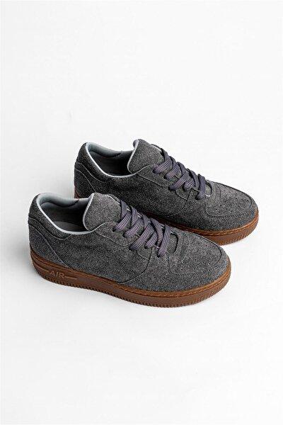 Unisex Air Gri Süet Bağlı Spor Ayakkabı