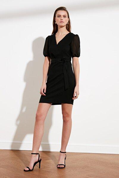 Siyah Kuşaklı Elbise TWOSS21EL1174