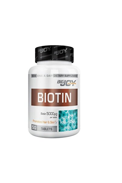 Bigjoy Vitamins Biotin 5000 Mcg 50 Tablet