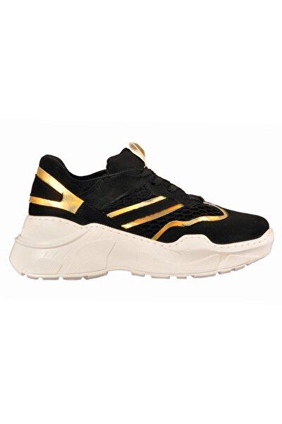 103 Siyah-altın Kadın Spor Ayakkabı